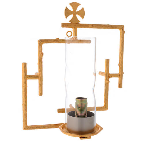Wall lamp in cast brass with glass 1