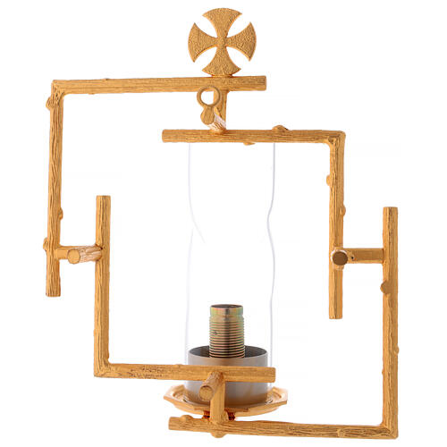 Wall lamp in cast brass with glass 4