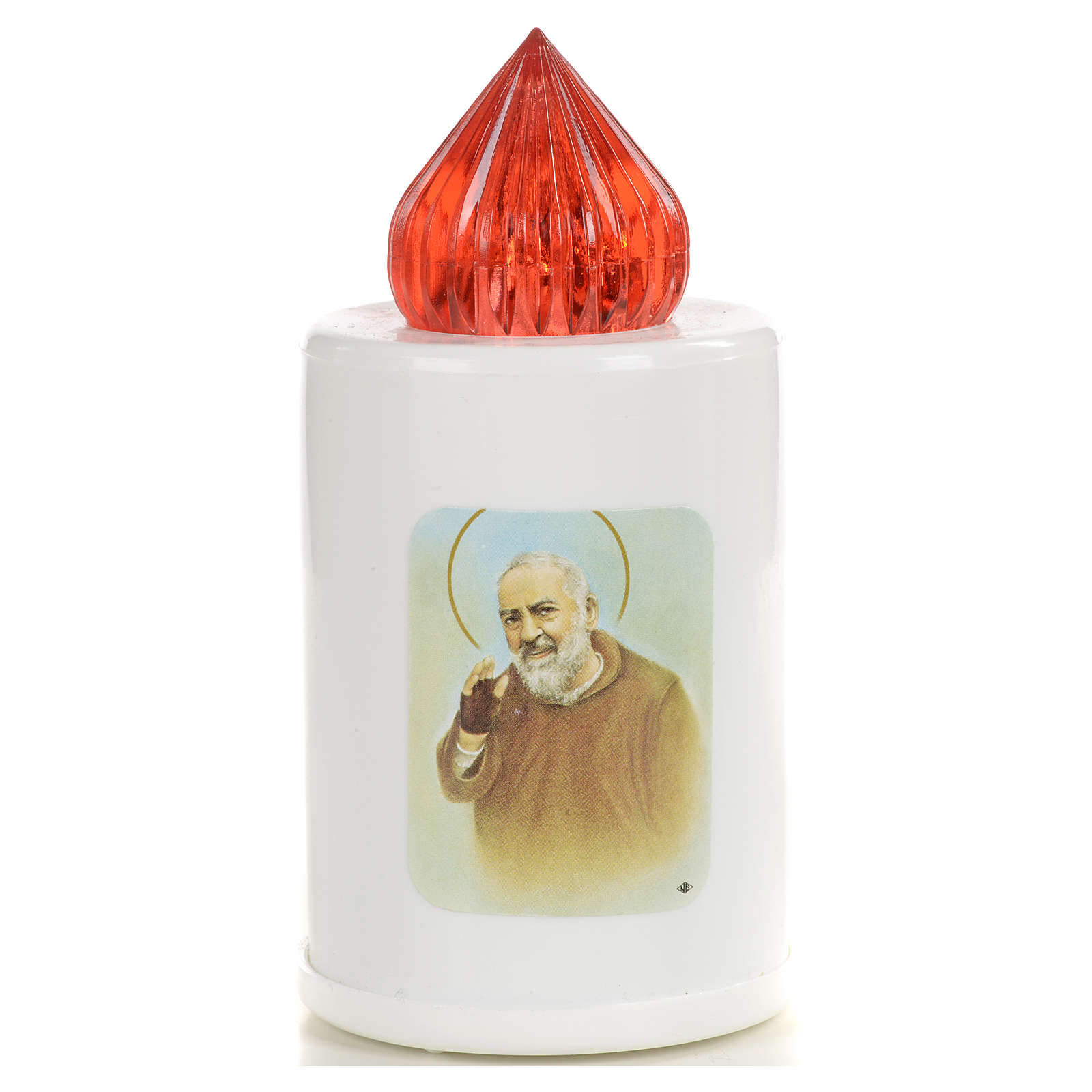 White votive candle with image, 100 days 3