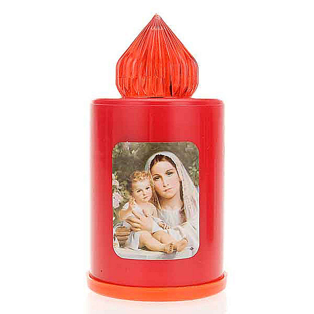 Red LED votive candle with image, 100 days 3