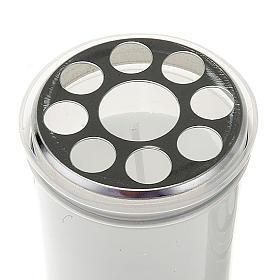 Lampe votive blanche, cire blanche s2