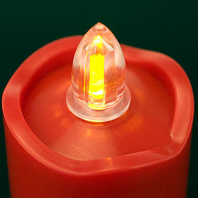 LED votive candle, red with wavy rim s2