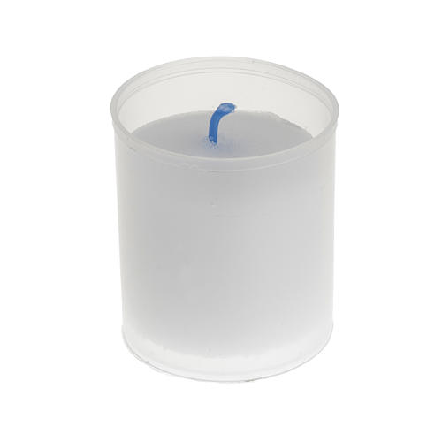 Tea light candle - white Star model 1