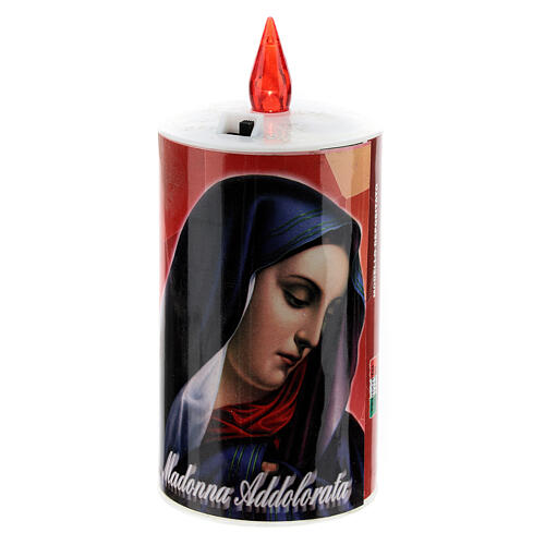 LED votive candle, ecological, red with image, lasting 70 days 4