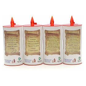 LED votive candle, white cardboard with image, lasting 70 days s2