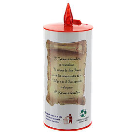 LED votive candle, white cardboard with image, lasting 70 days s4
