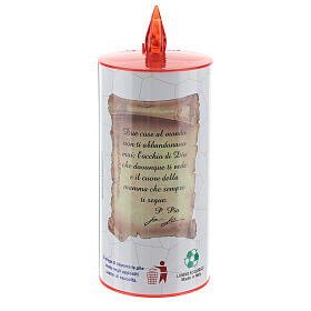 LED votive candle, white cardboard with image, lasting 70 days s6
