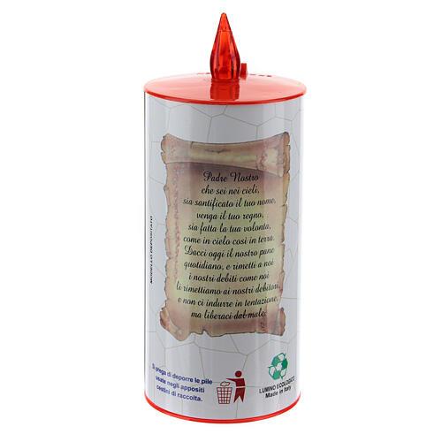 LED votive candle, white cardboard with image, lasting 70 days 8