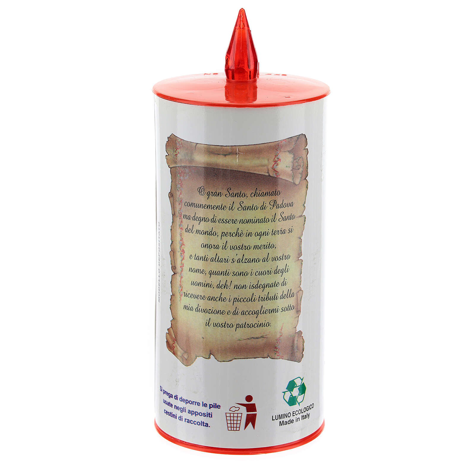 LED votive candle, white cardboard with image, lasting 70 days 3