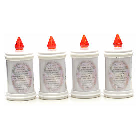 LED votive candle, white, lasting 90 days s6
