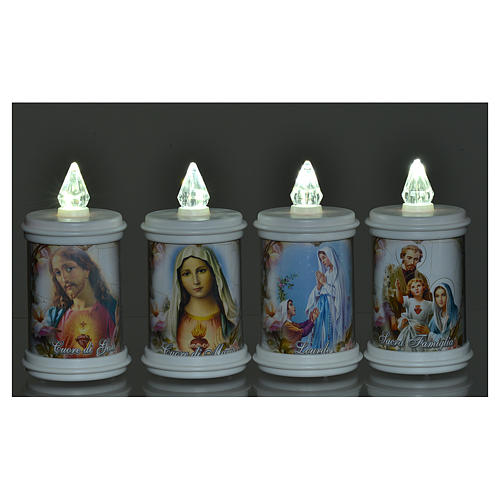 LED votive candle, white, lasting 90 days 2