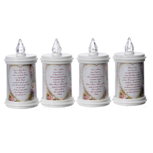 LED votive candle, white, lasting 90 days 10