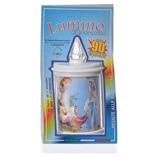 LED votive candle, white, lasting 90 days 4