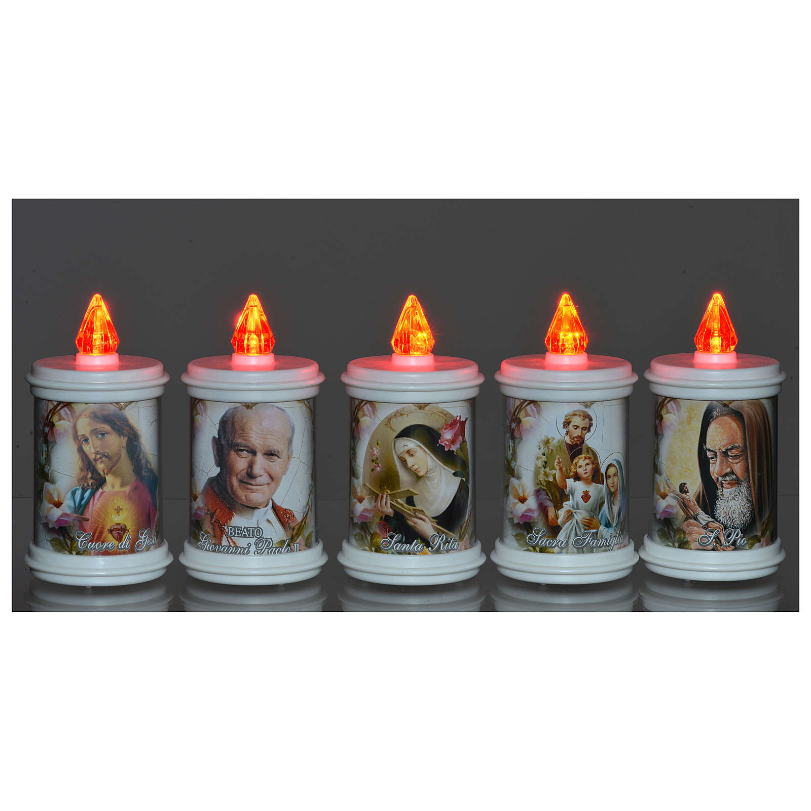 Votive candle in white plastic, electric, lasting 90 days 3