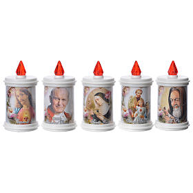 Votive candles: Votive candle in white plastic, electric, lasting 90 days