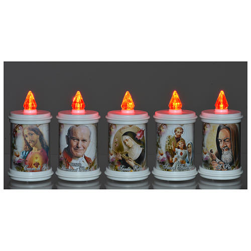 Votive candle in white plastic, electric, lasting 90 days 2