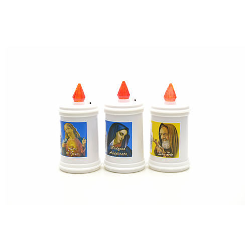 Electric votive candle in white plastic 60 days 3
