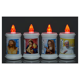Electric votive candle in plastic, lasting 40 days s2