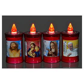 Electric votive candle in PVC, red, lasting 60 days s6