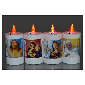 Electric votive candle in white plastic, lasting 40 days s2