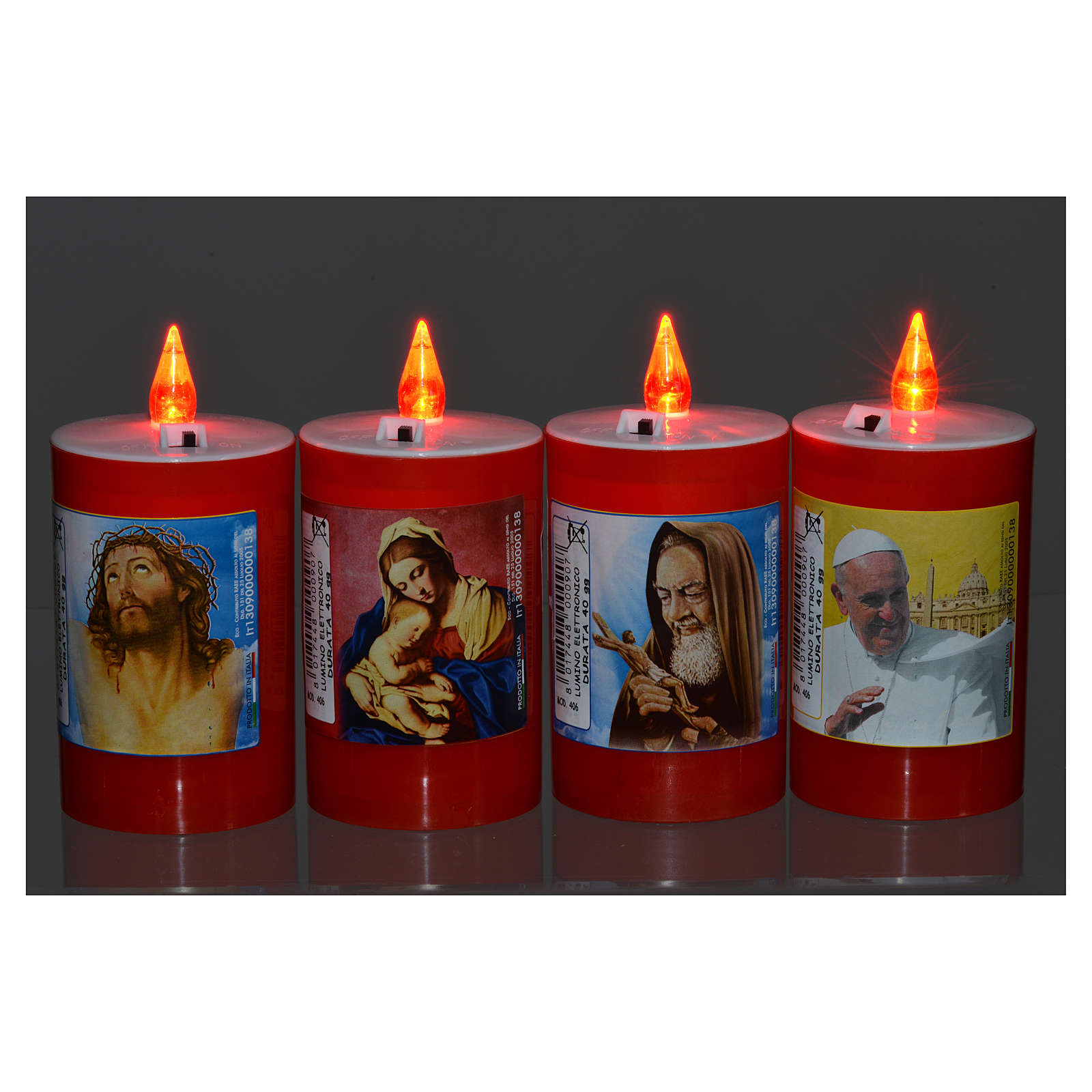 Electric votive candle in red plastic, lasting 40 days 3