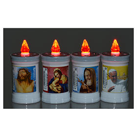 Electric votive candle in PVC, white, lasting 40 days s2