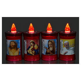 Electric votive candle in PVC, red, lasting 40 days s6