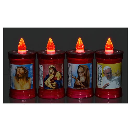 Electric votive candle in PVC, red, lasting 40 days 2
