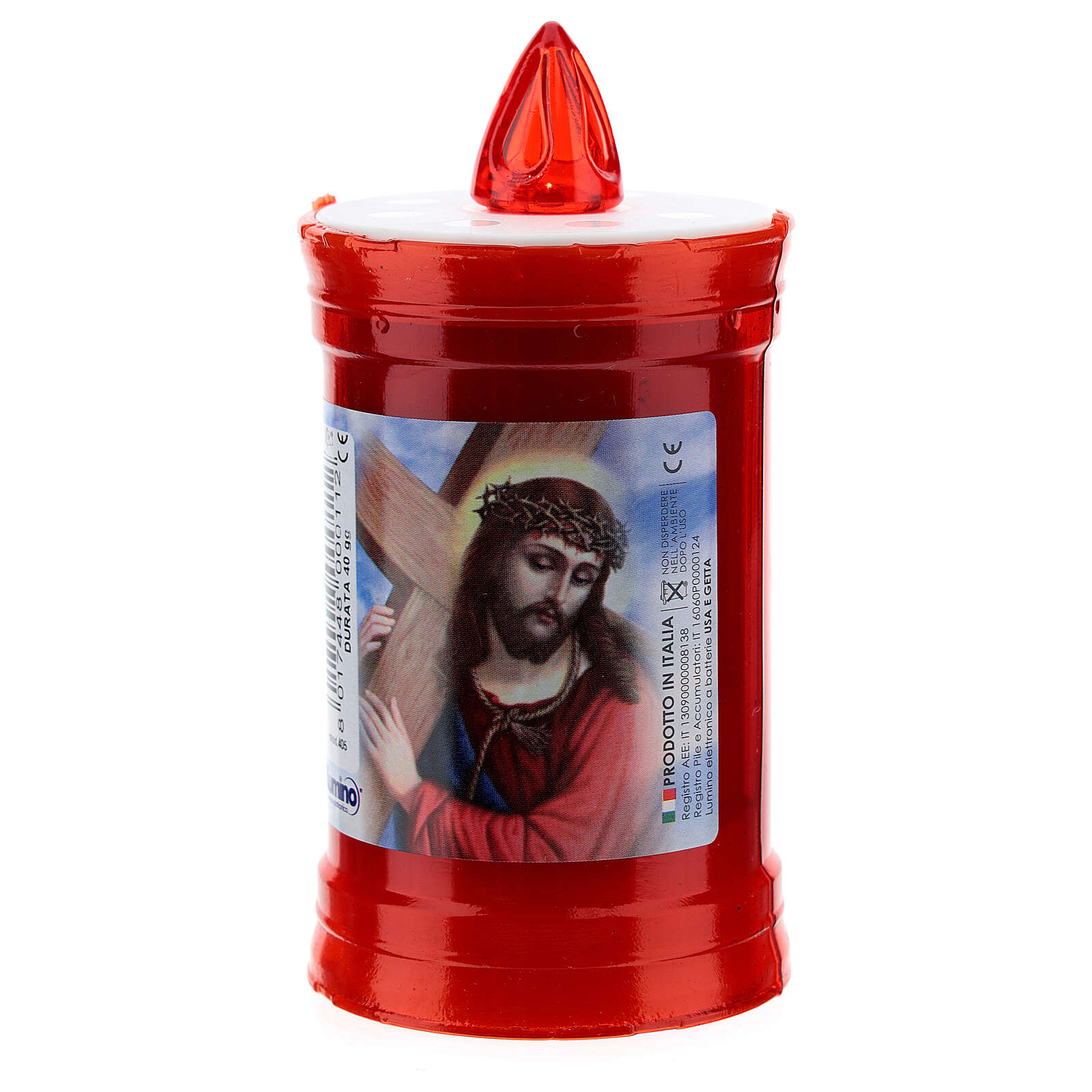 Electric votive candle in PVC, red, lasting 40 days 3