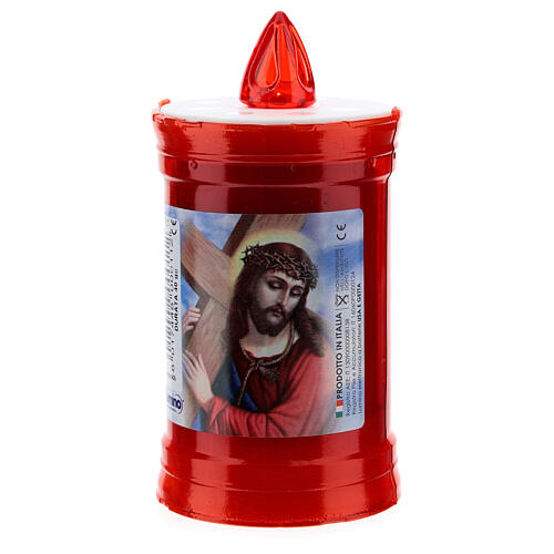 Electric votive candle in PVC, red, lasting 40 days 1