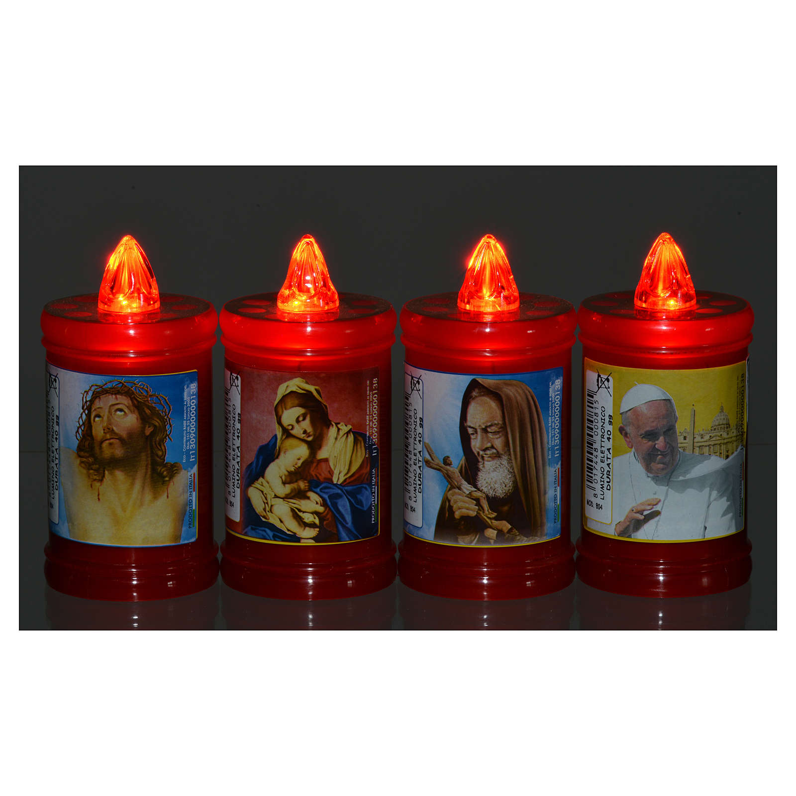 Plastic votive candle, red, lasting 40 days 3