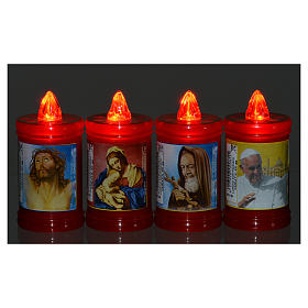 Plastic votive candle, red, lasting 40 days s6