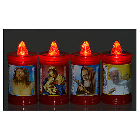 Plastic votive candle, red, lasting 40 days s2