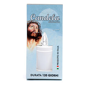 Plastic votive candle, white, lasting 120 days s1
