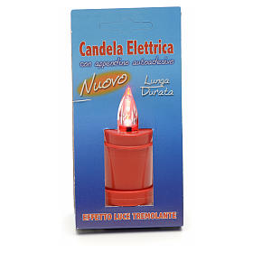 Votive candles: Plastic votive candle, red, lasting 70 days