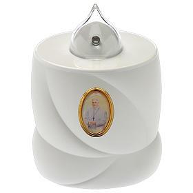 Veilleuses votives diverses: Bougie à piles Lumada blanc lumière fixe Pape François
