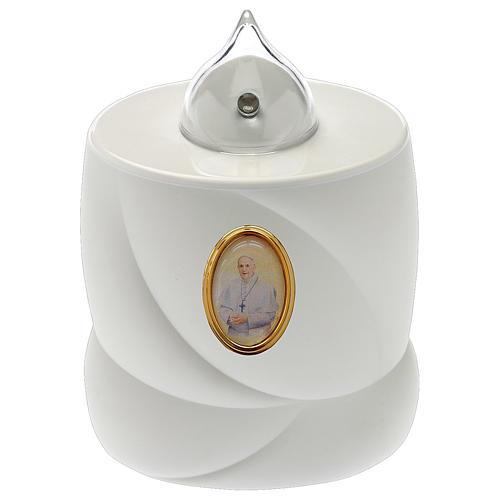 Candela a batteria Lumada bianca luce fissa Papa Francesco 1