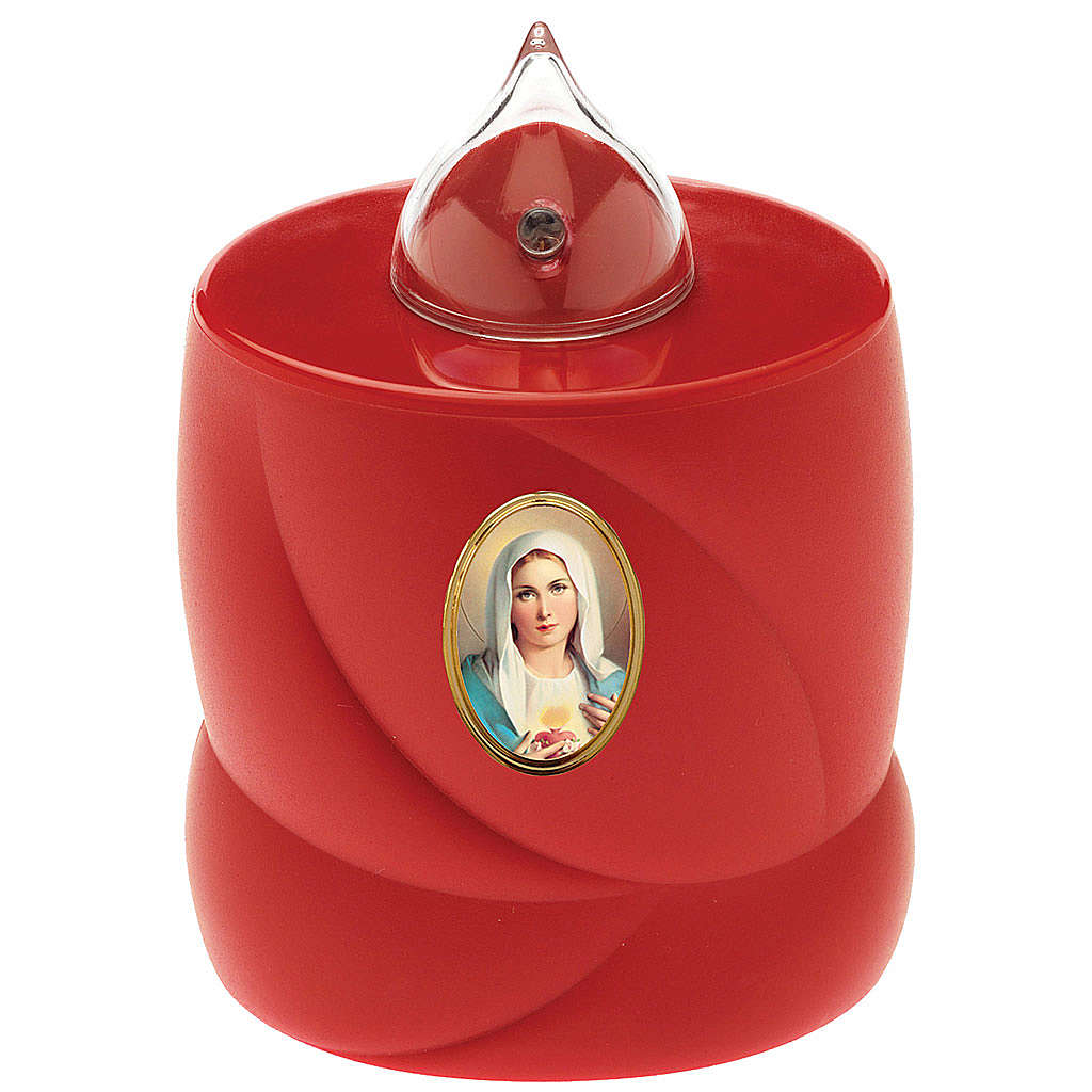 Bougie à piles Lumada rouge lumière clignotante Vierge 3