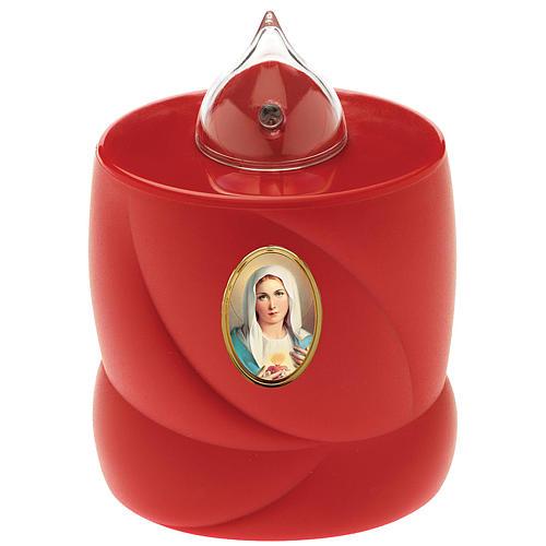 Candela a batteria Lumada rossa intermittente Madonna 1