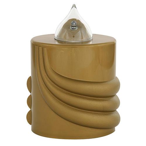 Votive candle, gold, Lumada, intermittent light 1