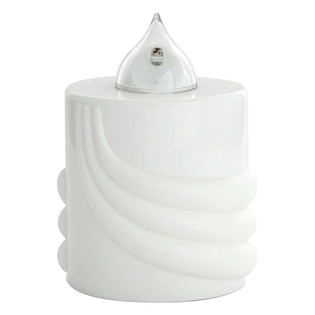Vela a pilas Lumada blanco luz parpadeante 3