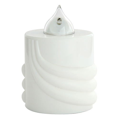 Vela a pilas Lumada blanco luz parpadeante 1