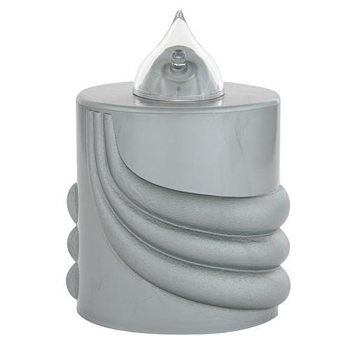 Votive candle, grey, Lumada, intermittent light 1