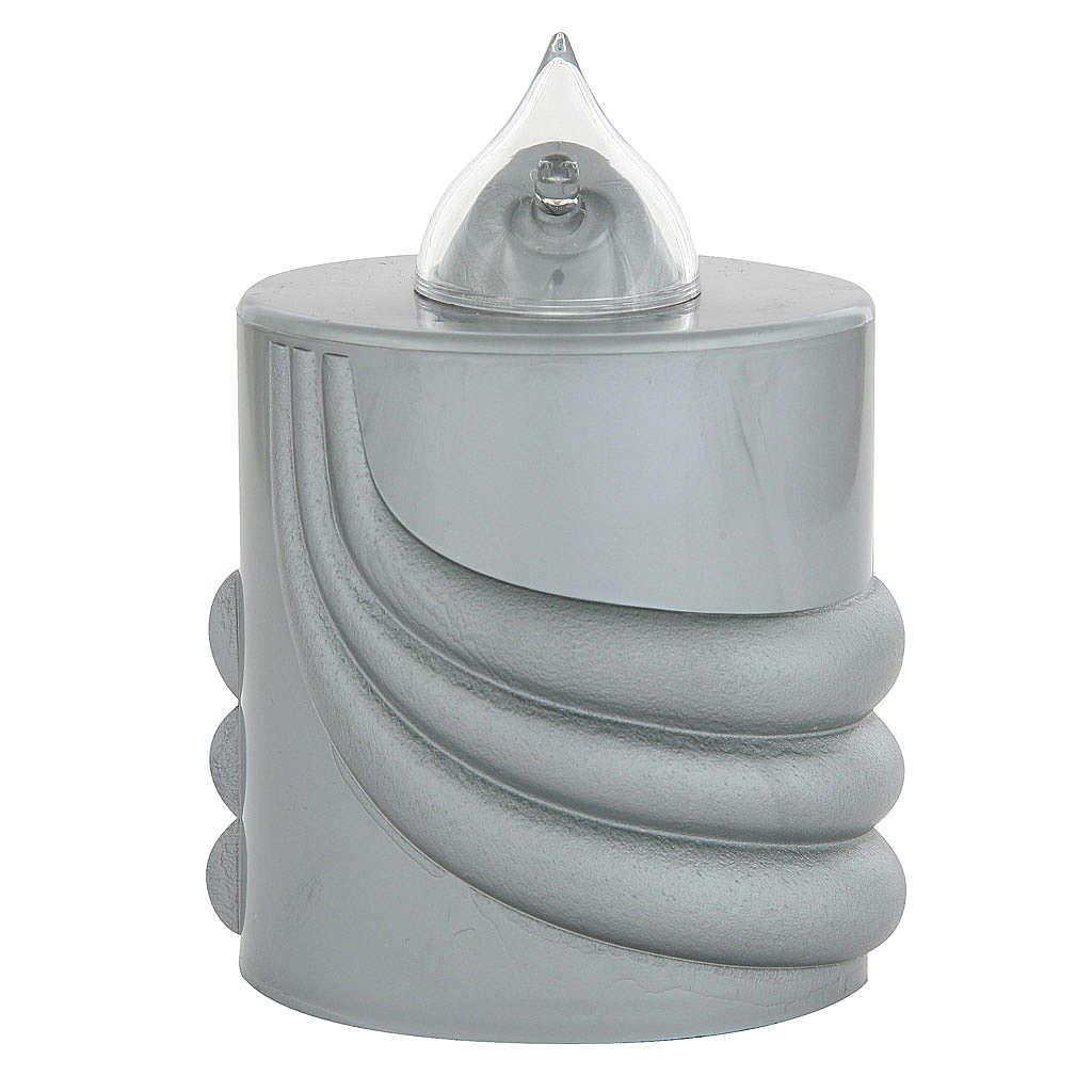 Veilleuse votive Lumada gris lumière clignotante 3