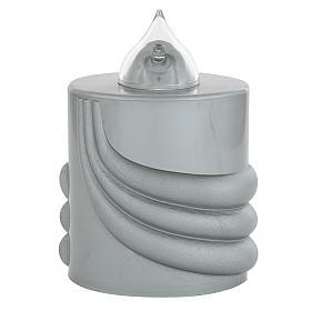 Veilleuse votive Lumada gris lumière clignotante s1