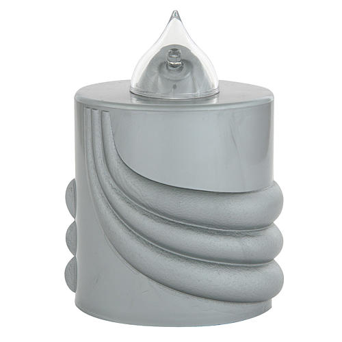 Veilleuse votive Lumada gris lumière clignotante 1