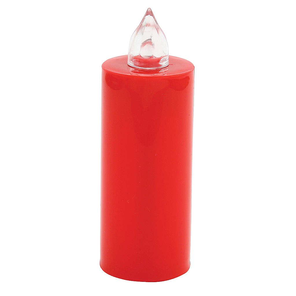 Vela Lumada descartável vermelha luz trémula pilhas 3