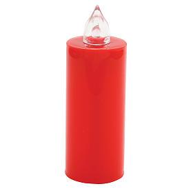 Velas Votivas: Vela Lumada descartável vermelha luz trémula pilhas