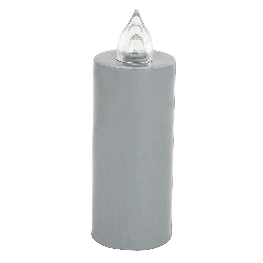 Battery votive candle, grey, Lumada, flickering light 3