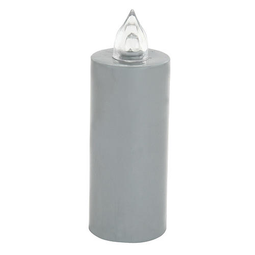 Battery votive candle, grey, Lumada, flickering light 1